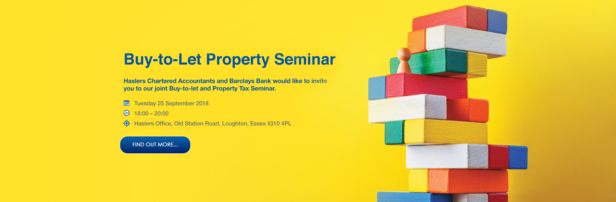 Barclays Bank team up with Haslers Chartered Accountants for free landlords seminar