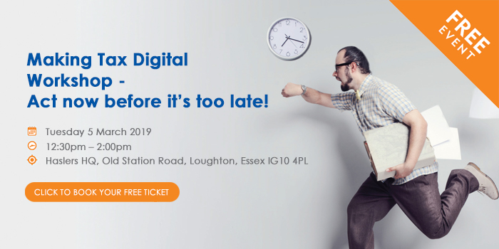 Making Tax Digital Workshop - Act now before its too late!