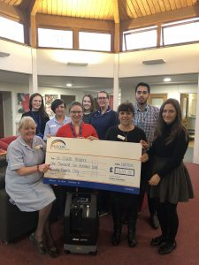 St Clare's Hospice receives a generous donation from Haslers Chartered Accountants