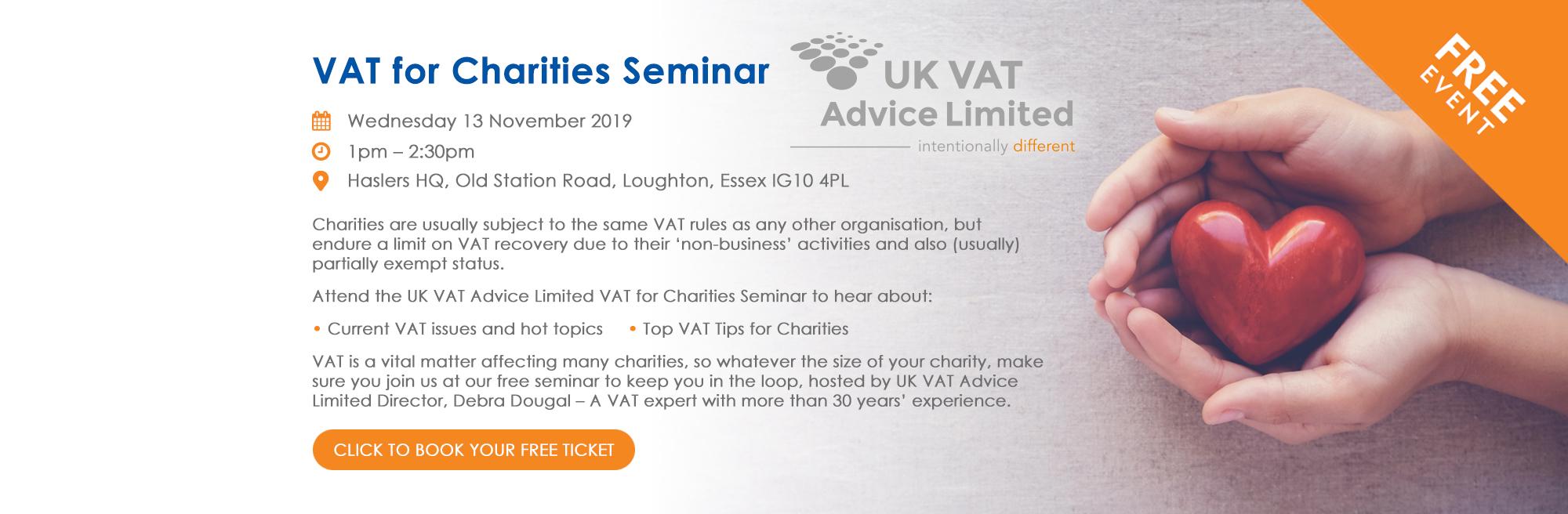 VAT for Charities Seminar
