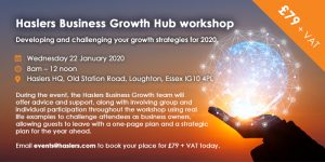 Haslers to start the year by hosting a unique workshop Developing and Challenging Business Growth Strategies for 2020